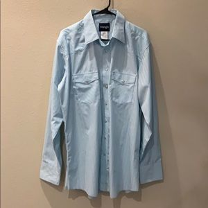 WRANGLER PEARL SNAP LONG SLEEVED SHIRT